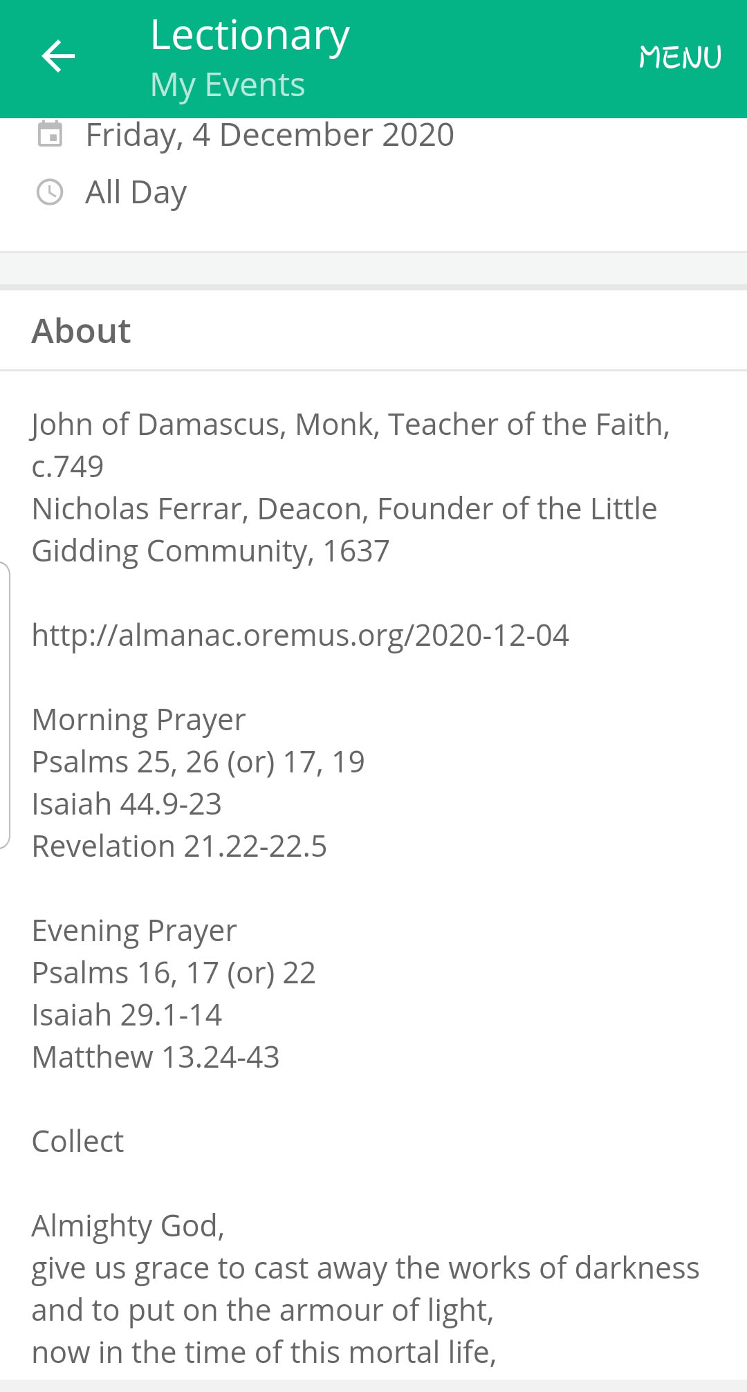 Lectionary 1